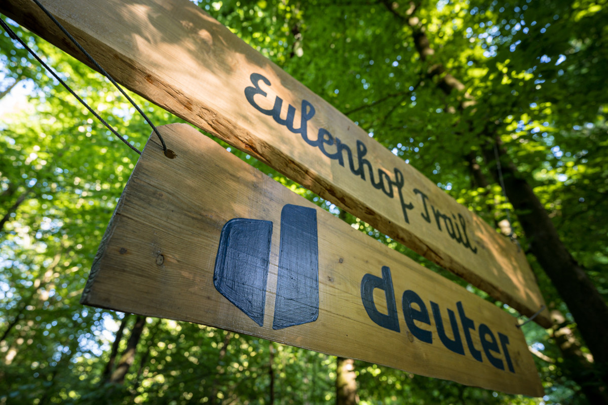 Deuter unterstützt unterstützt Bau und Instandhaltung des Eulenhof Trails